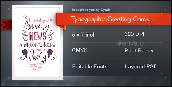 Typographic Greeting Cards - Greeting Cards Cards & Invites