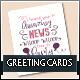 Typographic Greeting Cards - GraphicRiver Item for Sale