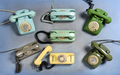 Collection of old vintage rotary telephones - PhotoDune Item for Sale