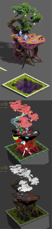 Art engraving - tree - 3DOcean Item for Sale