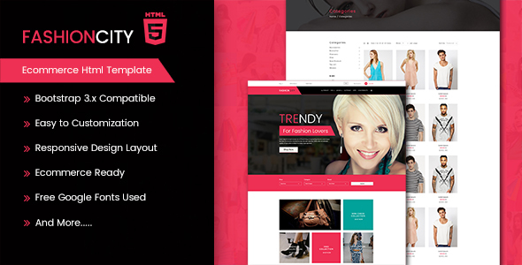 Fashion City – Ecommerce Html Template