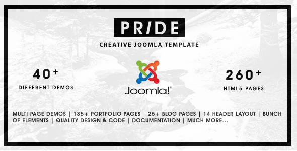 Pride - Multipurpose Joomla Template