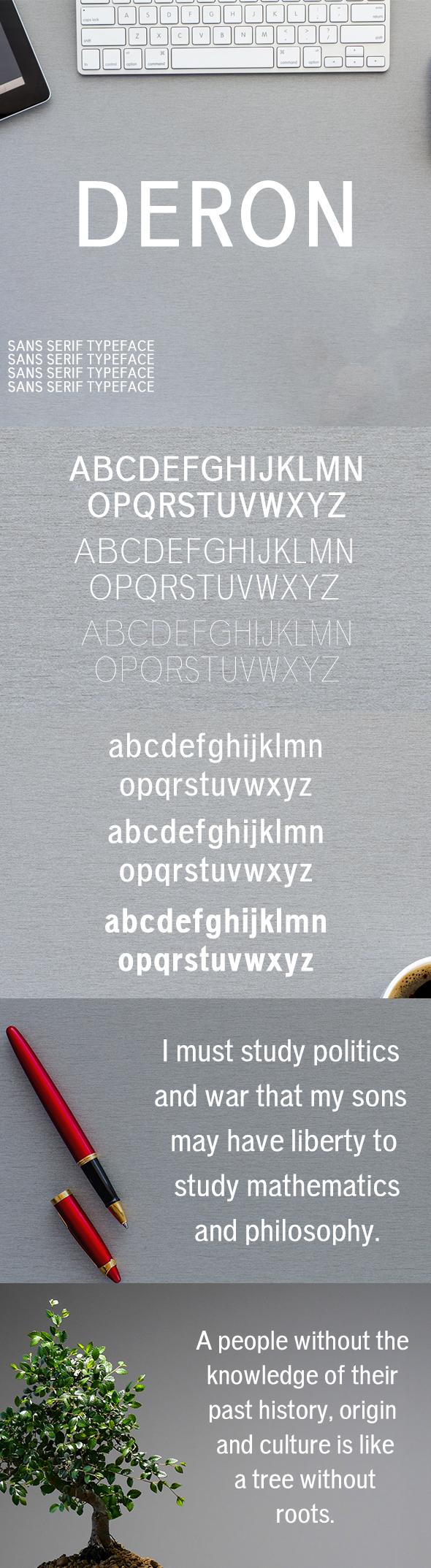 Deron Sans Serif Typeface - Sans-Serif Fonts