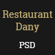 Restaurant Dany-PSD Template - ThemeForest Item for Sale