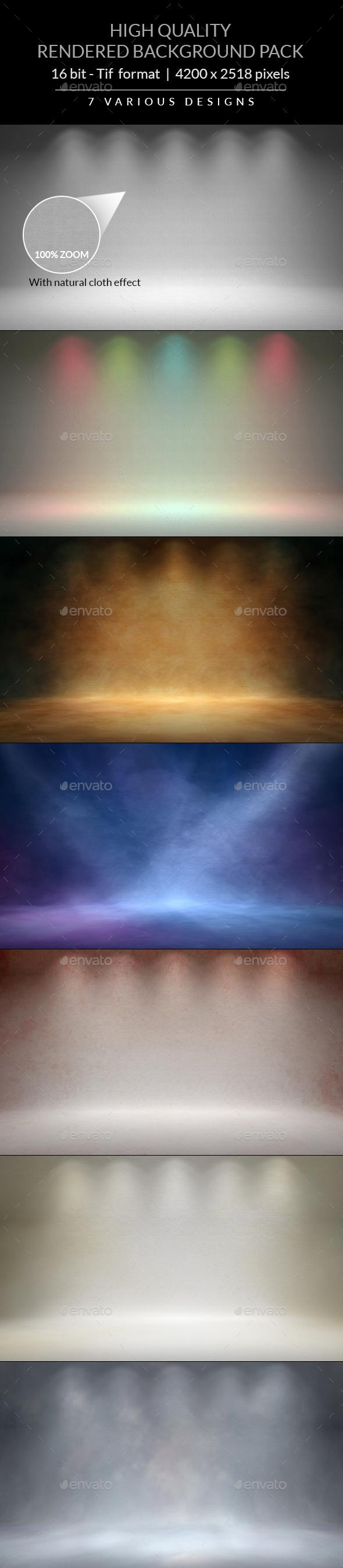 Studio Backgrounds - 3D Backgrounds