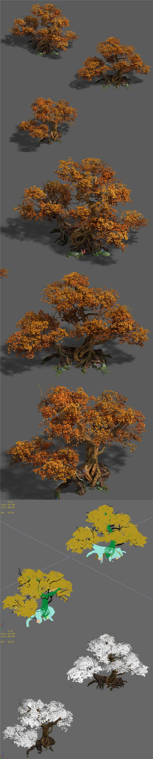 Plant - red tree 03 - 3DOcean Item for Sale