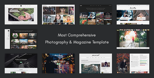 Juno - Photography & Magazine Site Template - Photography Creative