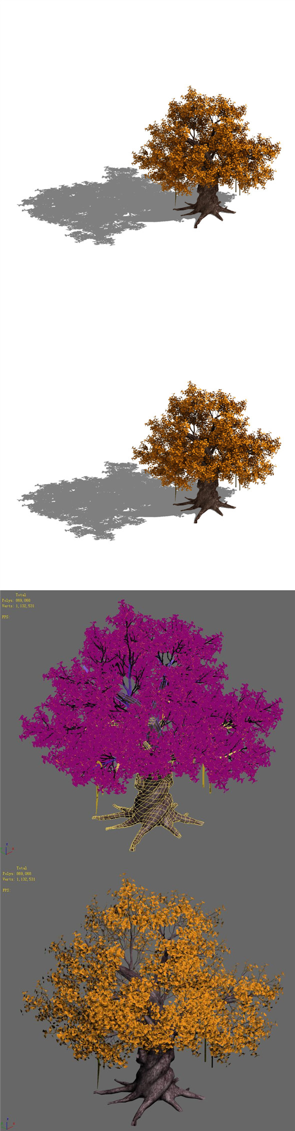 Plant - yellow tree - 3DOcean Item for Sale