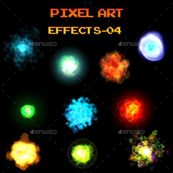 Pixel Art Effects 04 - Sprites Game Assets
