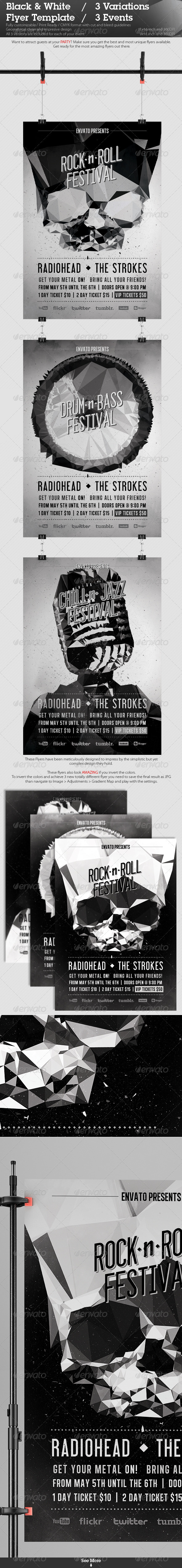 Black White Flyer Template by ConstantinPotorac – Black and White Flyer Template