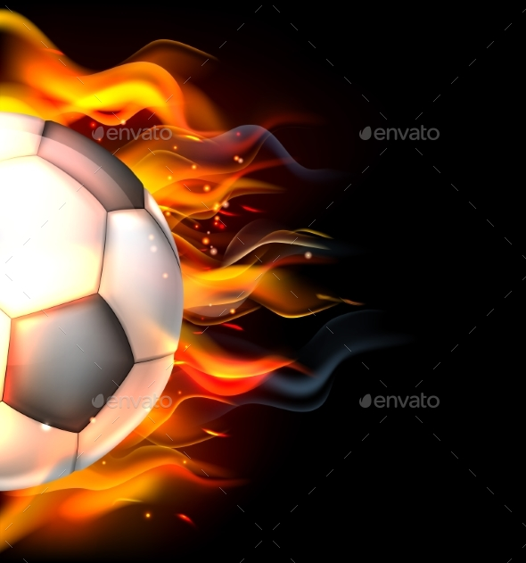 Flaming Soccer Ball - Sports/Activity Conceptual
