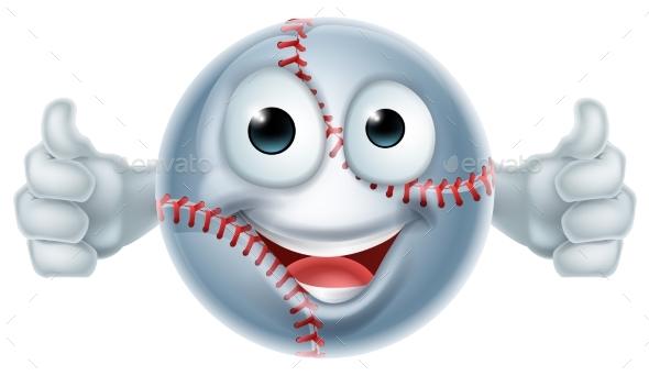 Cartoon Softball Man Character - Sports/Activity Conceptual