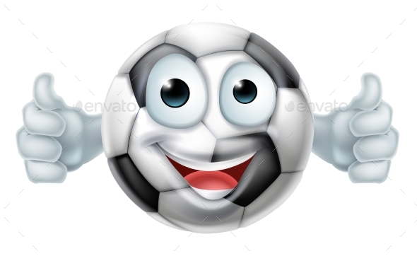 Cartoon Football Ball Man Character - Sports/Activity Conceptual