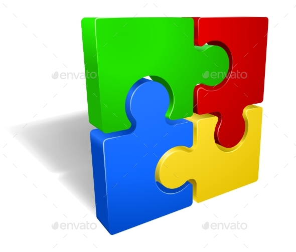 Jigsaw Puzzle - Miscellaneous Vectors