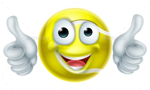 Cartoon Tennis Ball Man Character - Sports/Activity Conceptual