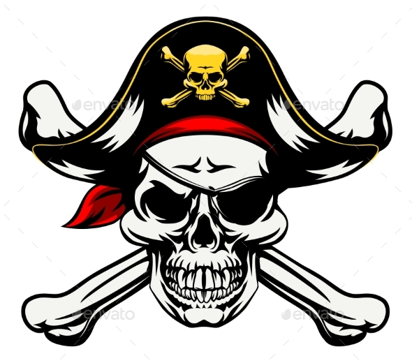 Skull and Crossbones Pirate - Miscellaneous Characters