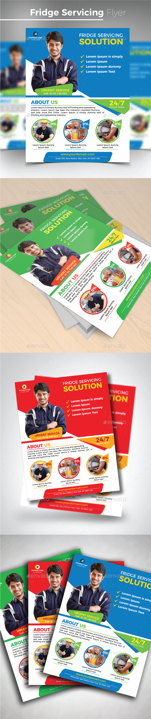 Fridge Servicing Flyer - Commerce Flyers