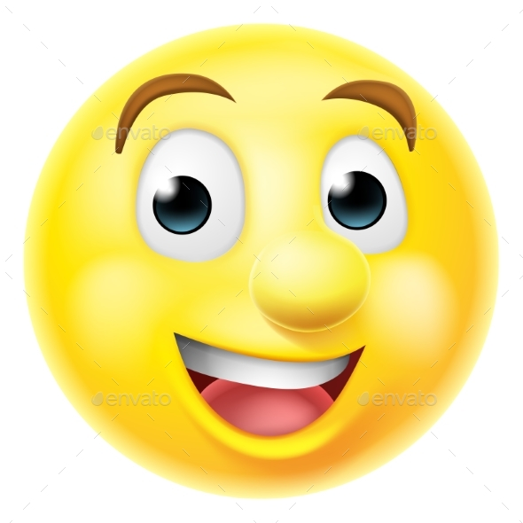 Happy Smiling Emoji Emoticon by Krisdog | GraphicRiver