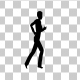 Silhouette Running People - VideoHive Item for Sale