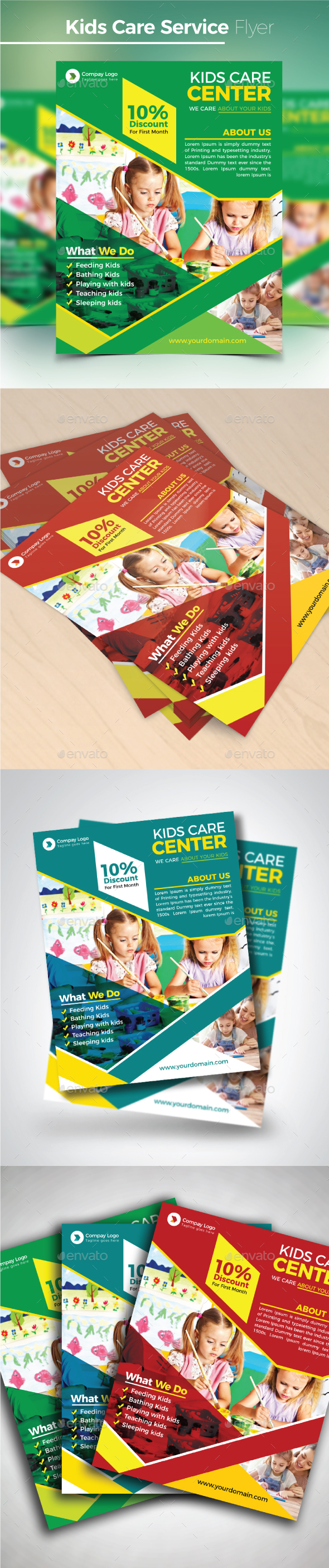 Kids Care Service Flyer - Commerce Flyers
