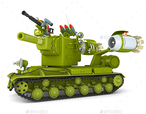 Cartoon Ultra Tank 3D Illustration - Technology 3D Renders