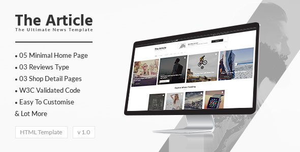 News Article and Blog - Modern Template for Blogs, Magazines and News - Corporate Site Templates