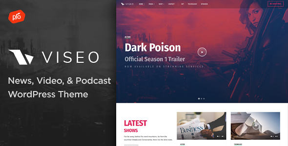Viseo – News, Video, & Podcast Theme