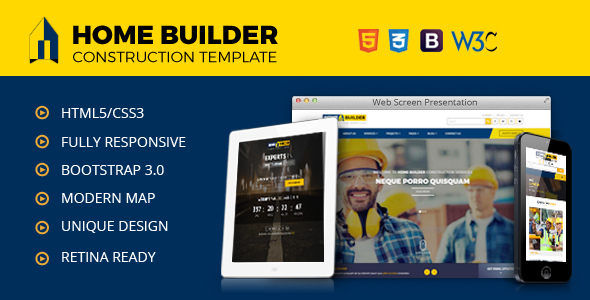 Home Builder | Construction,Builder, Contractor, Developer HTML