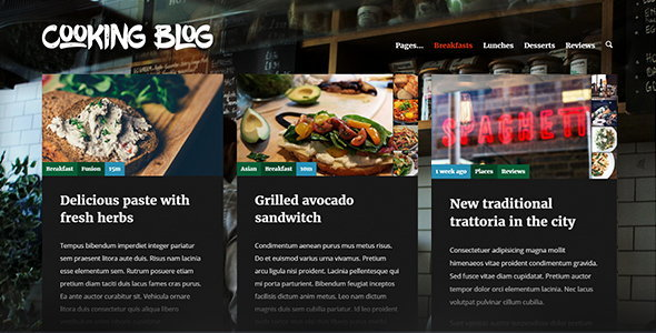 Cooking Blog — Food Recepies WordPress Theme
