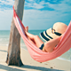 Girl in Hammock on Tropical Beach - VideoHive Item for Sale