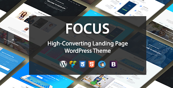 Focus High-Converting Landing Page WordPress Theme - Marketing Corporate