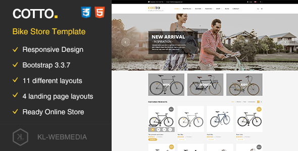 Cotto - Bike Store HTML5 template - Retail Site Templates
