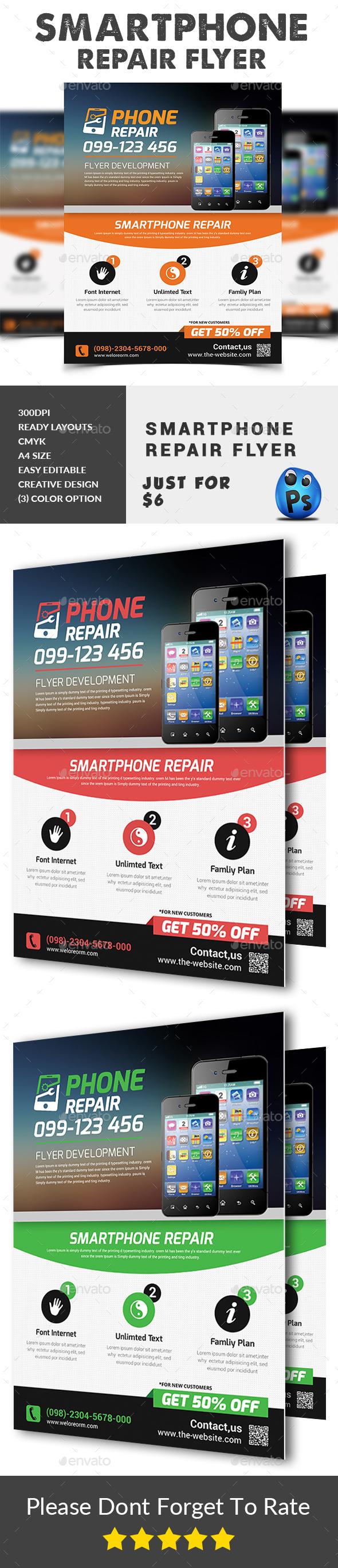 Smartphone Repair Flyer Templates - Corporate Flyers