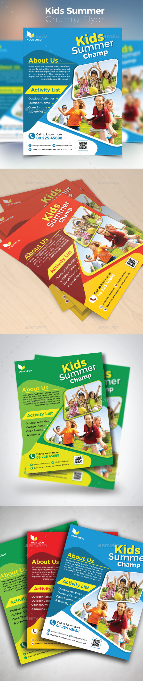 Kids Summer Champ Flyer - Commerce Flyers