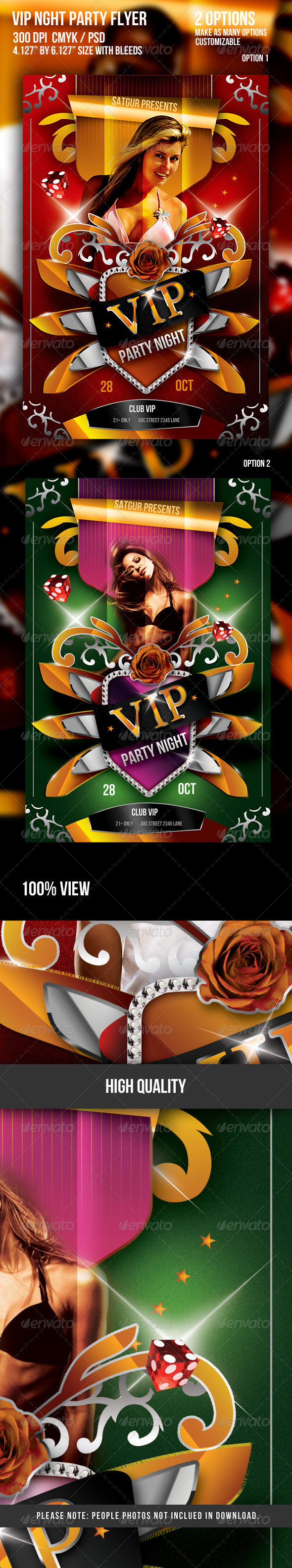 VIP Music Party Night Flyer - V2 - Clubs & Parties Events