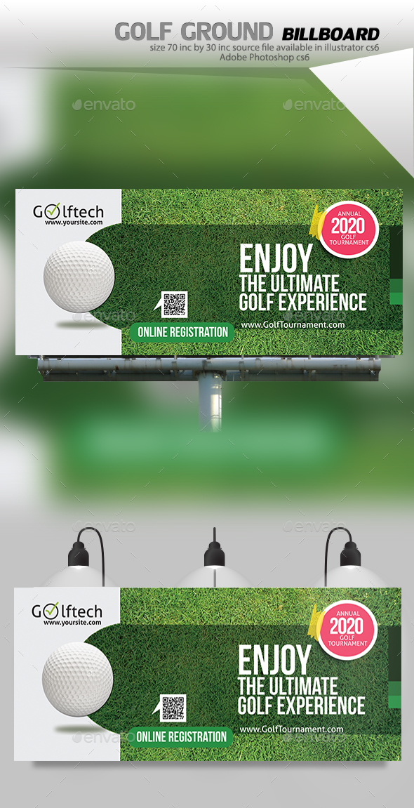Golf Tournament Billboard - Signage Print Templates
