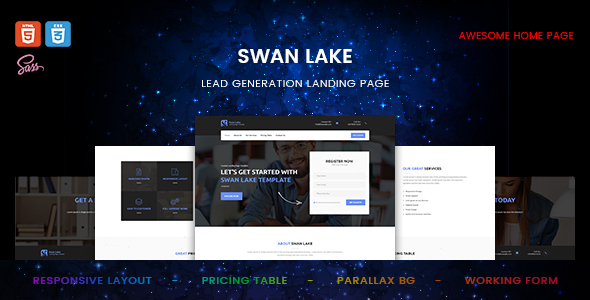 Swan Lake – Lead Generation Marketing Page