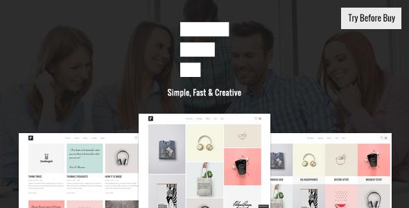 Fizz - Responsive Wordpress Portfolio Theme