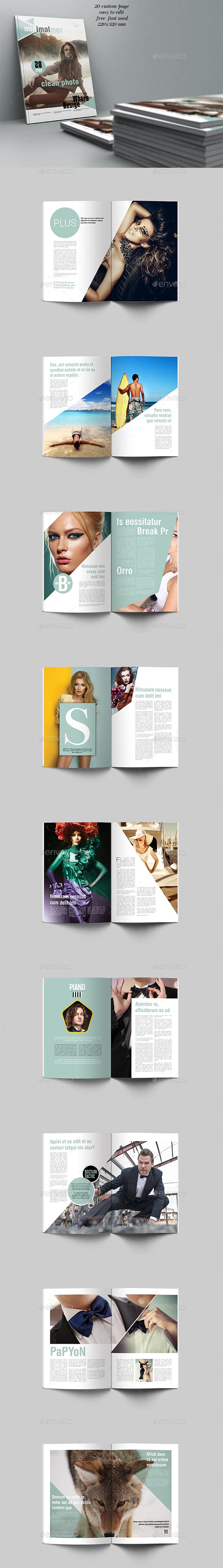 Minimal Mgz Template 20 Page - Magazines Print Templates