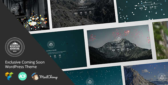 Mountain - Exclusive Coming Soon WordPress Theme - Business Corporate