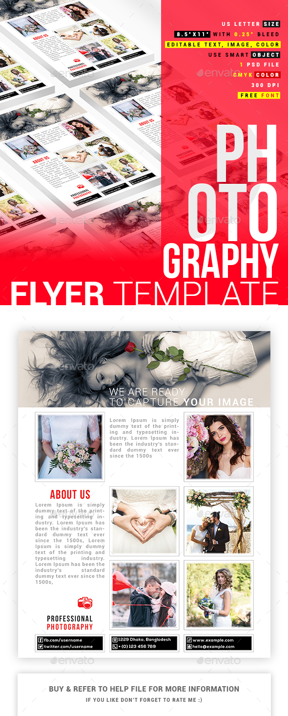 Photographer Flyer Design - Flyers Print Templates