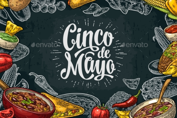 Mexican Traditional Food Restaurant Menu Template - Food Objects