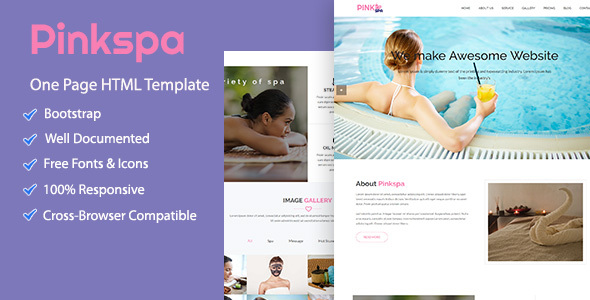 Pinkspa – Health & Beauty Template