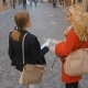 Two Young Ladies Walking and Talking - VideoHive Item for Sale