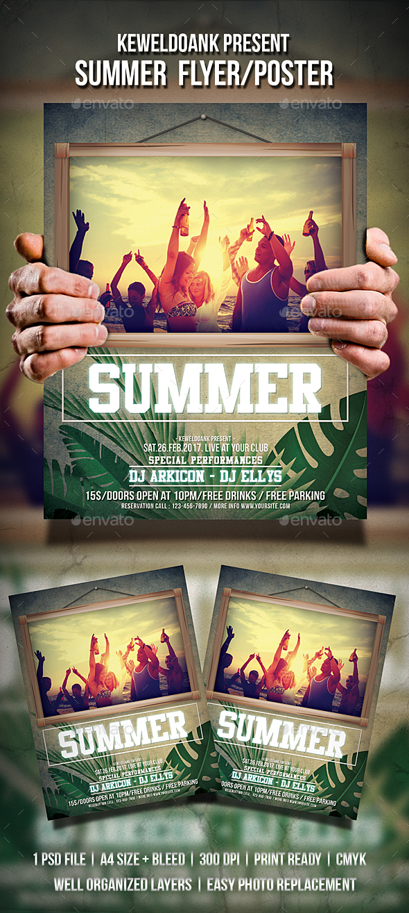 Summer Flyer / Poster - Clubs & Parties Events