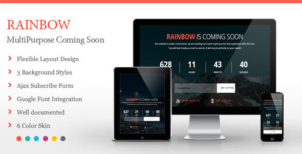 Rainbow – Coming Soon Template
