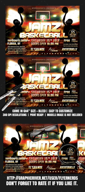 Jamz Basketball Sports Flyer - Sports Events