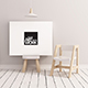 Canvas Poster Mockup Nursery Minimalistic - Landscape - GraphicRiver Item for Sale
