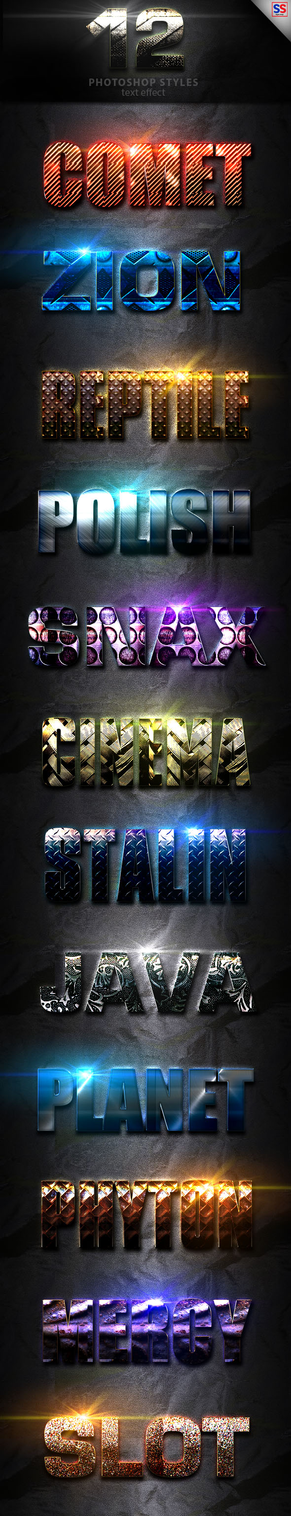 Light Photoshop Text Effect Vol 1 - Text Effects Styles