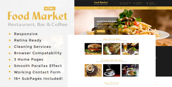 The Food Market | Restaurant HTML Template